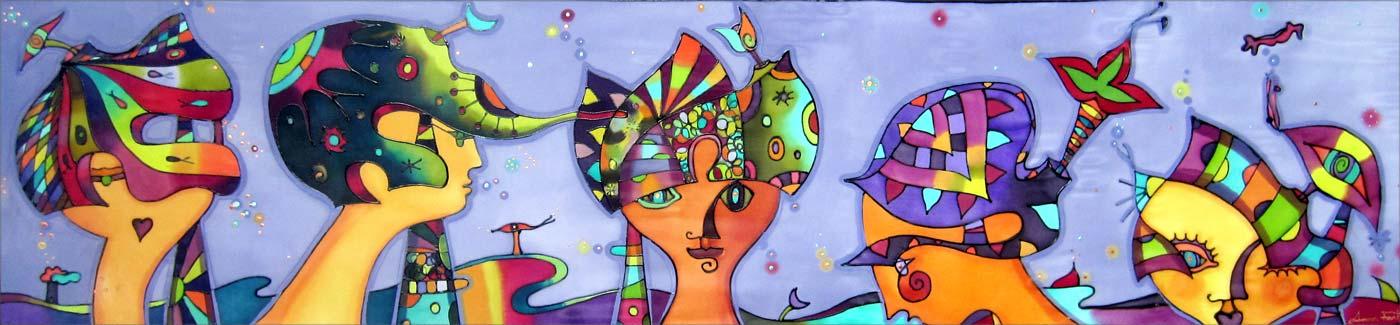 Dalianas | Pintura sobre seda | Painting on silk