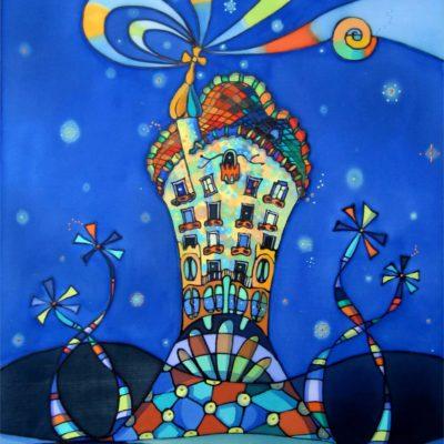 Casa Batlló | Batlló House | Pintura sobre seda | Painting on silk