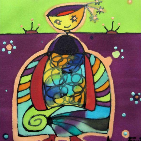 Tuti menina | Tuti menina | 30x30cm | Pintura sobre seda | Painting on silk