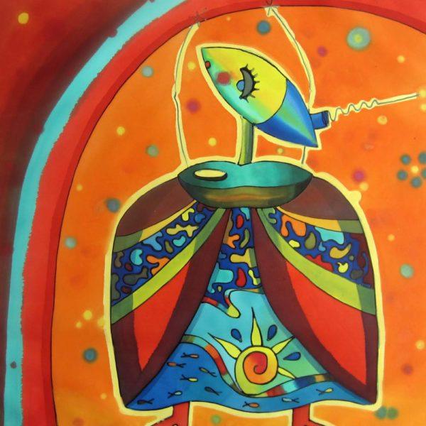 Tuti veneciano | Venetian Tuti | 50x50cm | Pintura sobre seda | Painting on silk