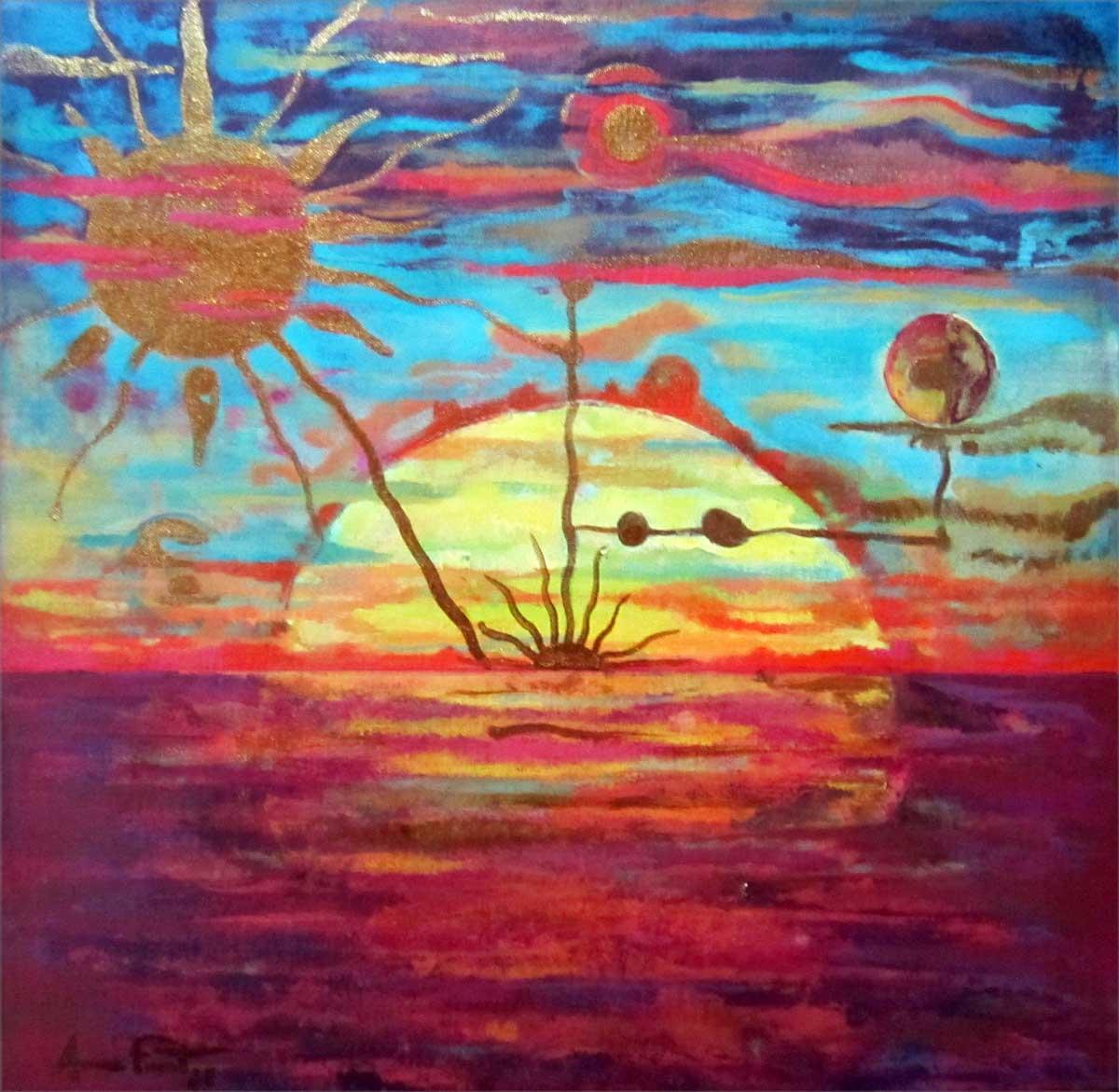 Amanecer | Sunset | 40x40 cm | Acrílico